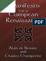 Alain de Benoist, Charles Champetier, Manifesto for a European Renaissance