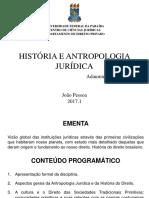 AULAS_-_HISTRIA_DO_DIREITO_E_ANTROPOLOGIA_JURDICA_-_2017-1