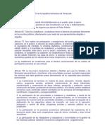 Artículos de La Constitución de La Republica Bolivariana de Venezuela