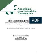 Règlement électoral de L'Assemblée communautaire fransaskoise - ACF