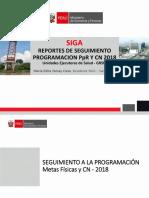 Analisis y Seguimiento Programacion SIGA 2018
