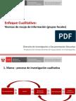 CLT202 Enfoque Cualitativo, Grupos Focales