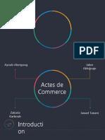 Les Actes de Commerce. Rectifier Pptx