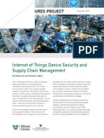 Internet of Things Device Security and Supply Chain Management