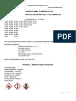 Hoja Seguridad Compuesto Rigido PVC Grado Industrial