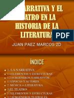 LA NARRATIVA Y EL TEATRO EN LA HISTORIA.ppt