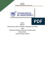 MIII–U3-Actividad 2. Operaciones Con Números Reales