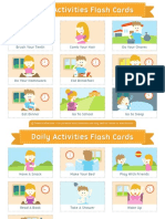 Daily Activities Flash Cards 2x3