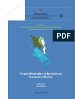 Estudio hidrologico cuencas huancane y suches