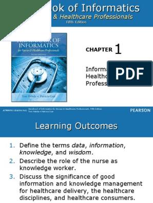 5th Edition Handbook of Informatics for Nurses /& Healthcare Professionals