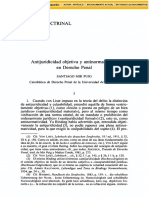 AntijuricidadObjetivaYAntinormatividadEnDerechoPenal - Santiago Mir Puig