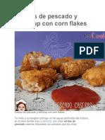Varitas de Pescado y Ketchup Con Corn Flakes