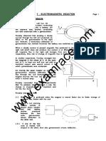 Physics ElectroMagnetic Induction