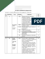 Planificare Calendaristica - Clasa Pregatitoare
