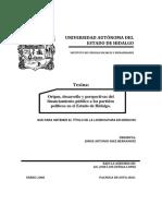 Origen, desarrollo y prespectivas del financiamiento.pdf