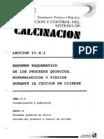 1. Resumen Esquematico de Los Procesos Quimicos Mineralogicos y Fisicos Durante La Coocion de Clinker