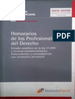 Honorarios de Los Profesionales Del Derecho -Libro