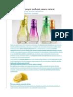 Como Hacer Tu Propio Perfume Casero Natural