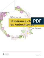 Définition de l'itinérance chez les Autochtones au Canada
