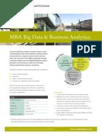 Factsheet Mba Big Data Business Analytics Programme 2017 2019