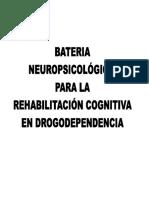 BATERIA NEUROPSICOLÓGICA PARA REHABILITACIÓN COGNITIVA EN DROGODEPENDENCIA