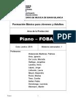 Piano 2013- Foba I Adultos