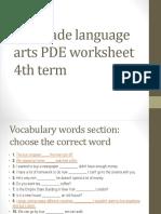 7th L. Arts PDE worksheet 4th term 2017.pptx
