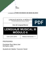 Lenguaje Musical III Mód. 6 Formación Básica