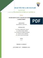 Resumen Ejecutivo de Instrumentacion y Equipos de Medida en El Lab