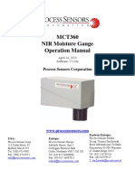 Processsensors MCT360 NIR Moisture Gauge Operation Manual
