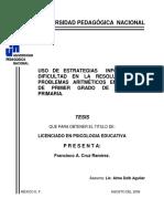 Uso de Estrategias en La Resolución de Problemas.tesis
