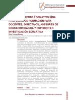 Acompañamiento Formativo. Una Propuesta de Formacion en Investigacion Educativa