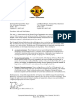 City of Olympia Trespass Letter
