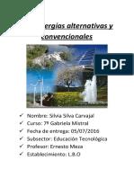 Energías Alternativas y Convencionales