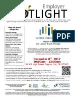 Employer Spotlight December 2017