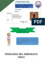 Fisiologia Del Embarazo Unico y Multiple