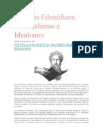 Campos Filosóficos Materialismo e Idealismo
