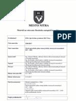 Operačný plán zimnej údržby Nitra 2017/2018