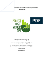 Drafting a Law on Sustainable Nature Management for SURINAME