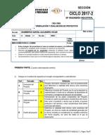 Tipo a Examen Parcial Formulación y Evaluación de Proyectos 2017-2