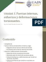 Unidad 3 Fuerzas Internas, Esfuerzos y Deformaciones Torsionantes - Copia