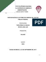 PARTICIPACIÓN DE LAS PYMES EN COMPRAS DEL SECTOR PÚBLICO FEDERAL