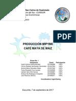 Producción CAFÉ MAYA