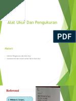 1a. Intro - Definisi Dan Istilah Teknis (Alat Ukur Dan Pengukuran)