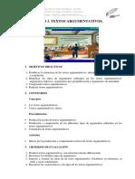 Unidad 3 Argumentativosalumnos13-14