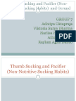 Thumb Sucking and Pacifier (Non-Nutritive Sucking Habits