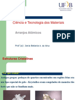 Ciencia e Tecnologia Dos Materiais - Arranjos Atômicos (Aula3)