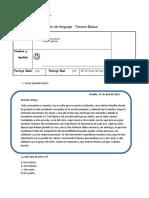 Evaluación de Lenguaje MARTES 24 de OCT