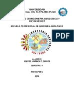 Caratula de Ing. Geologic