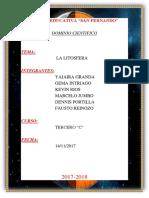 DOMINIO CIENTIFICO LITOSFERA